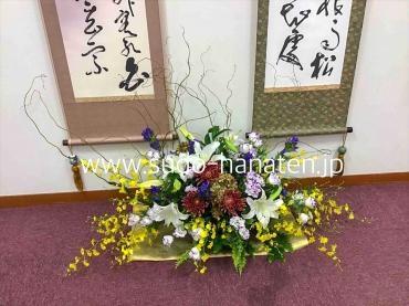 お寺の書道展、出張装飾